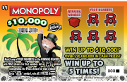 1309-MONOPOLY $10000 FLORIDA EDITION Scratch-Off Ticket