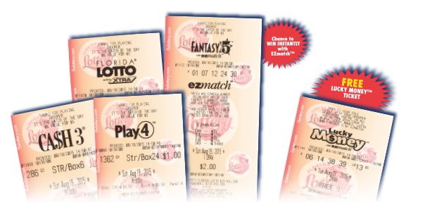 Sample Cash 3, Play 4, Lotto, Fantasy 5 and Lucky Money tickets