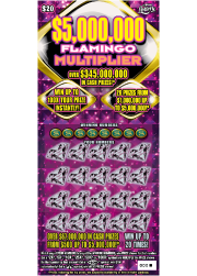 $5,000,000 FLAMINGO MULTIPLIER Scratch-Off Ticket