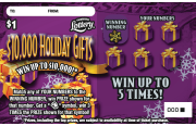 $10,000 Holiday Gifts Scratch-Off Ticket