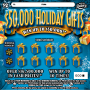 $50,000 Holiday  Gifts Scratch-Off Ticket