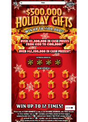 $500,000 Holiday Gifts Scratch-Off Ticket
