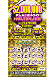 $2,000,000 FLAMINGO MULTIPLIER Scratch-Off Ticket