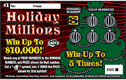 1323-Holiday Millions Scratch-Off Ticket