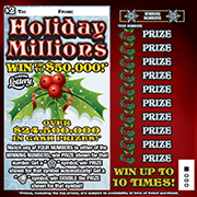 1324-Holiday Millions Scratch-Off Ticket